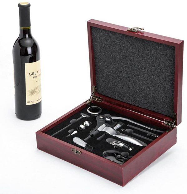 Coffret 9 accessoires vin
